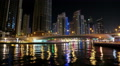 Dubai Marina night time lapse, United Arab Emirates Footage