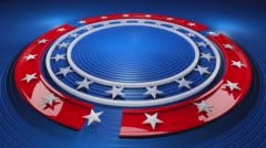 USA Stars Stripes Radial Background Loop  - stock footage