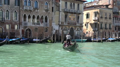 Views of Venice city and activity on the Grand Canal Stock Footage