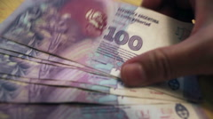 Argentinian Peso. Money And Financial. Cash, carrier, withdraw Stock Footage