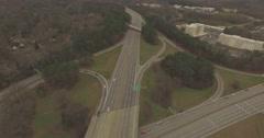 Glenwood and I-440 Interchange in Raleigh, NC. Stock Footage
