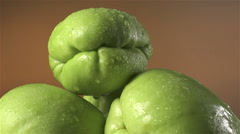 Chayote isolated rotating on brown/gray background Stock Footage