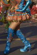 Morenada Dancer in Traditional Andean Costume Stock Photos