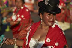 ARICA, CHILE - JANUARY 23, 2016: Morenada Dancer at the Carnaval Andino. Stock Photos