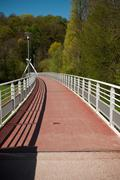 Suspension metallic bridge Stock Photos