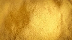 Pile Of Yellow Powder Rotating Stock Footage
