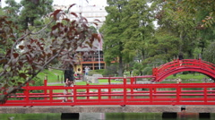 Japanese Garden, Buenos Aires, Argentina. Stock Footage