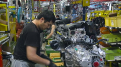 Workers. Work in Process. Car Manufacturing. Car Production Stock Footage