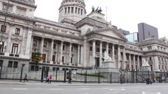 The National Congress, Buenos Aires, Argentine. Congreso de La Nación Argentina. Stock Footage