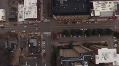 Bird's Eye View of Downtown Raleigh, NC Stock Footage