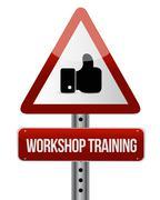 Workshop training like sign concept - stock illustration