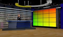 PSD Template of Tricaster Psd TV Studio Set for News