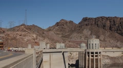 The Hover Dam near las vegas in desert Stock Footage