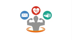 healthy lifestyle design, Video Animation - stock footage