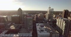Downtown Raleigh, NC Aerial Arkistovideo