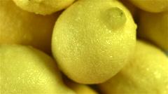 Top view of Lemons rotating Stock Footage