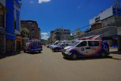 Portoviejo, Ecuador - April, 18, 2016: Rescue team vehicles  making recovery Stock Photos