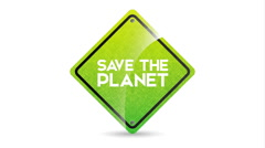 Save the planet design, Video Animation - stock footage