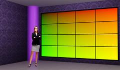 PSD Template of Tricaster Psd TV Studio Set for News-39