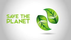Save the planet design, Video Animation Stock Footage