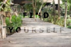 Find yourself inspirational quote on garden background Kuvituskuvat
