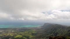 Time lapse over south east shore of Oahu Stock Footage