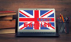 Education concept. learn english online Stock Photos