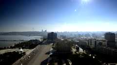 Hilton embankment Caspian Sea Stock Footage