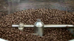 Coffee Roaster Full of Fresh Coffee Beans Stock Footage