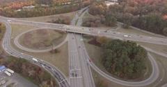 Glenwood Avenue in Raleigh, NC Aerial Stock Footage