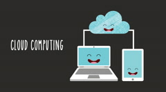 Animated cloud computing design, Video Animation - stock footage