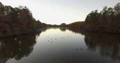 Lake Lynn in NW Raleigh Aerial Stock Footage