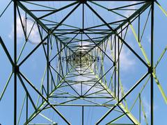 Overhead transmission tower - stock photo
