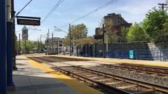 MT Royal Station - Arriving at Platform Stock Footage