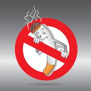 Cartoons No Smoking Sign Stock Illustration