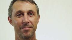 Male USA Passport Portrait Closeup Stock Footage