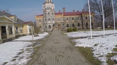Old castle - Historic Building Stock Footage