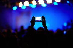 Making video of concert Stock Photos
