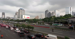 Jakarta time lapse - day to night in 4K Stock Footage