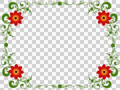 red flower frame.png - stock illustration