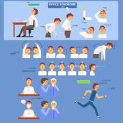 Office Syndrome Infographics Stock Illustration