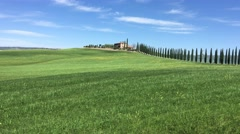 Grass and wind near Agriturismo, Italy Stock Footage