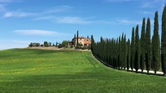 Driving near Agriturismo in Tuscany Stock Footage