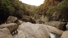 Top Perspective of Ba Ho Waterfall in Vietnam, with Sound Stock Footage