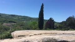 Rocks of Bagno Vignoni, Tuscany Stock Footage