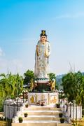 Goddess of Mercy known as Quan Yin or Guan Yin or Guan Yim Stock Photos