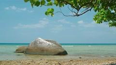 Undeveloped Tropical Beach Paradise on the Island of Phuket, Thailand Stock Footage