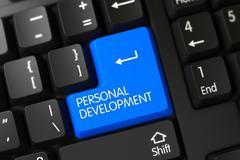 Personal Development Button Stock Illustration