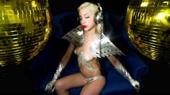 silver sexy babe gogo dancer diva party disco woman 4k - stock footage