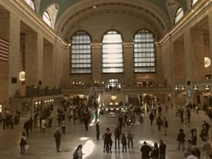 Vintage Style 8mm Grand Central Station in New York Stock Video Stock Footage